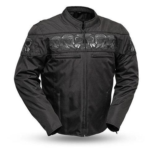 MKL - Markin Men's Cordura Reflective Skull Jacket