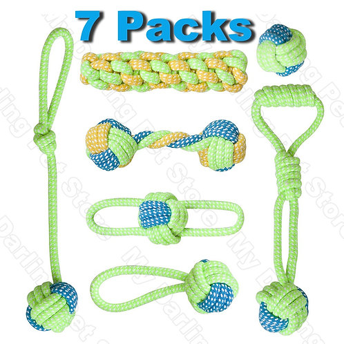 7 Pack Pet Dog Toys- Dogs Ball, Toothbrush, Interactive Dog Toys