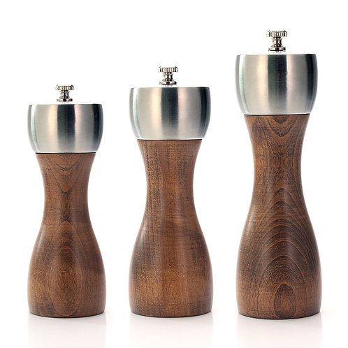 Premium Beech Pepper Mill  - Precision Carbon Steel Rotor