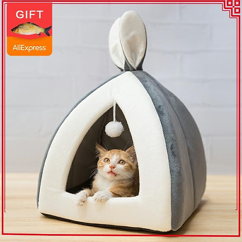 Hot Sell Pet Cat House Bed - Collapsible Cat Cave