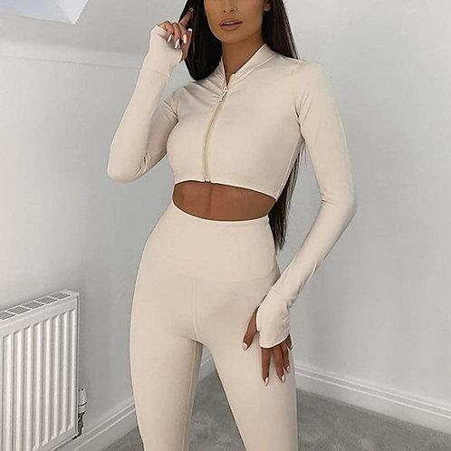 Long Sleeve Tracksuit Sport Set - 2021 Home Yoga Suit