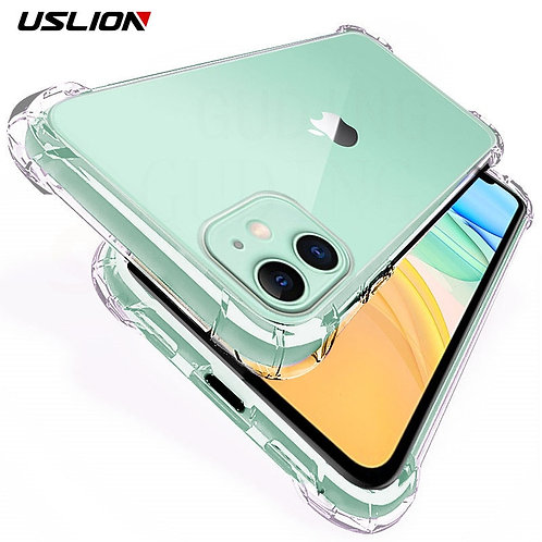 USLION Shockproof Armor Clear Case for iPhone 11 12 Pro MaxXS MaxXR X 8 7 6 6s