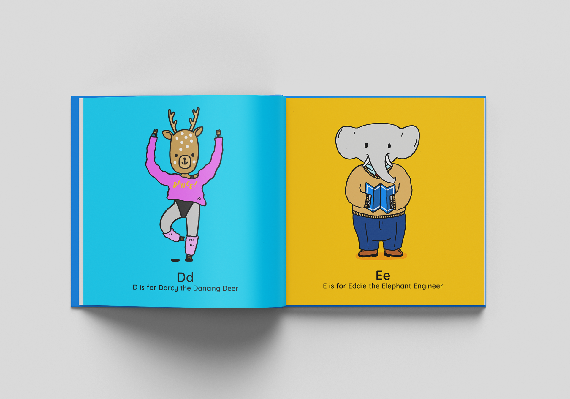 Animals At Work Illustrated Children's Book Spread