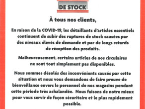 Rupture de stock : Home Hardware