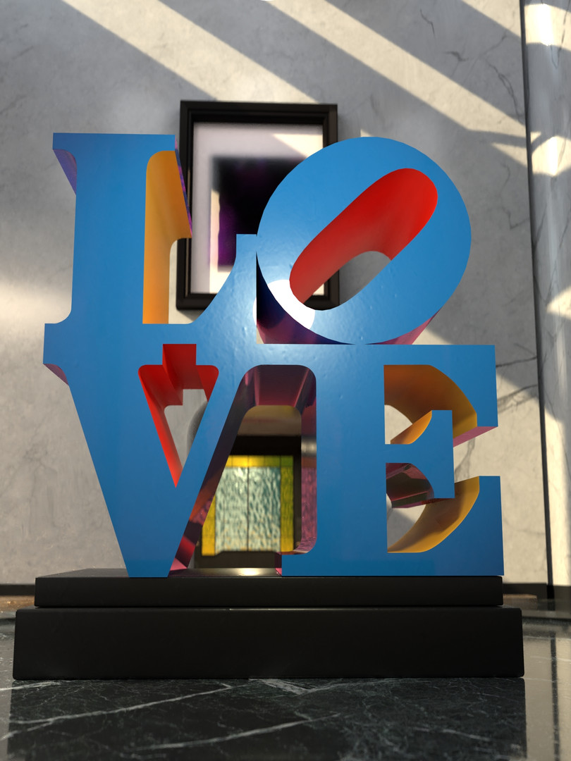 Robert Indiana Sculpture