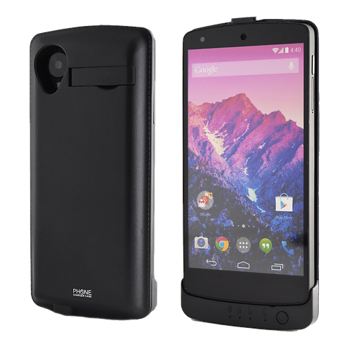 Nexus 5 Battery Case Rechargeable Back-Up Power