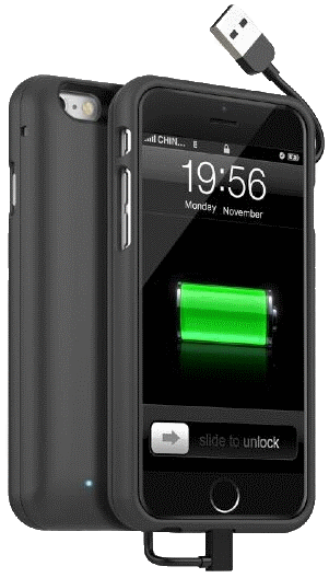 iPhone 6 Battery Case with Built-in USB/Lightning
