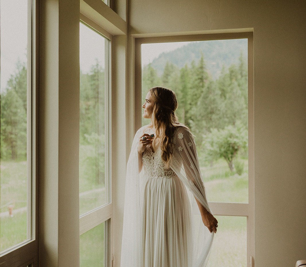 The Driftside Retreat @whiteravenvenue - bride by windows