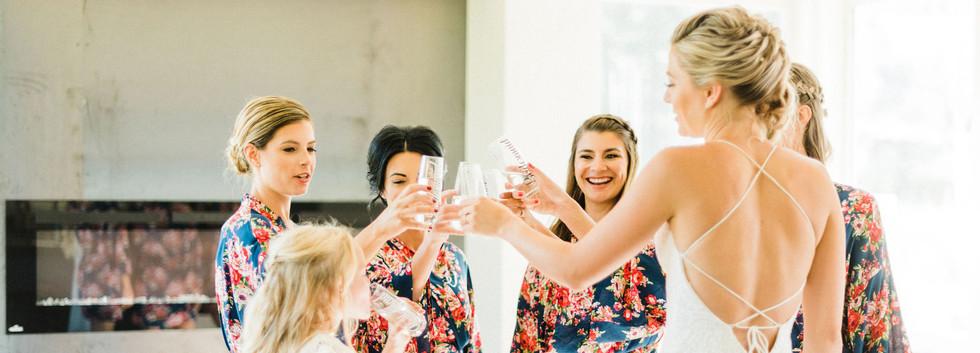 The Driftside Retreat @whiteravenvenue - bridal cheers