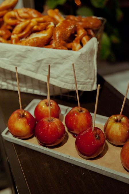 candy apple taube grau catering xmas event