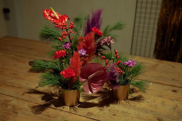 xmas flowers event berlin table berries