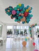 Balloon installation at Bridge studios