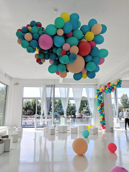 Balloon installation at Bridge studios