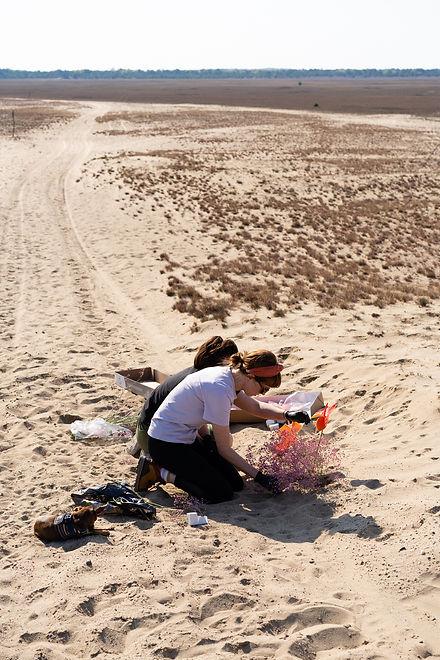 lieberoser wüste, florals, women, desert