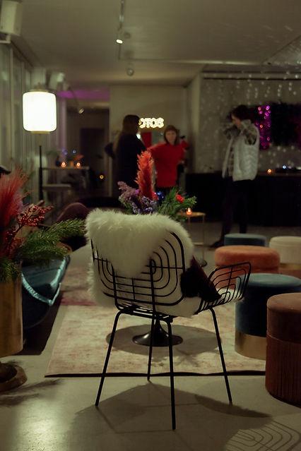 xmas party berlin design chair fur