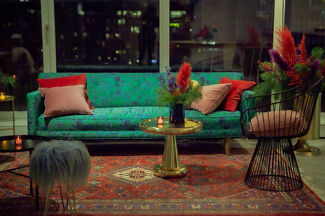 couch fur set design berlin xmas festive