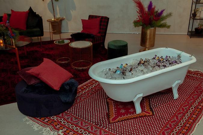 bath tub beer set design event design xmas party berlin