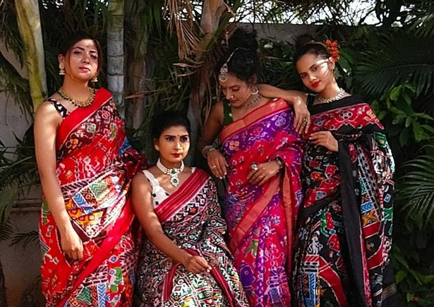 Hyderabad Saree Shoot Behind the scene pictures Aelanz Models