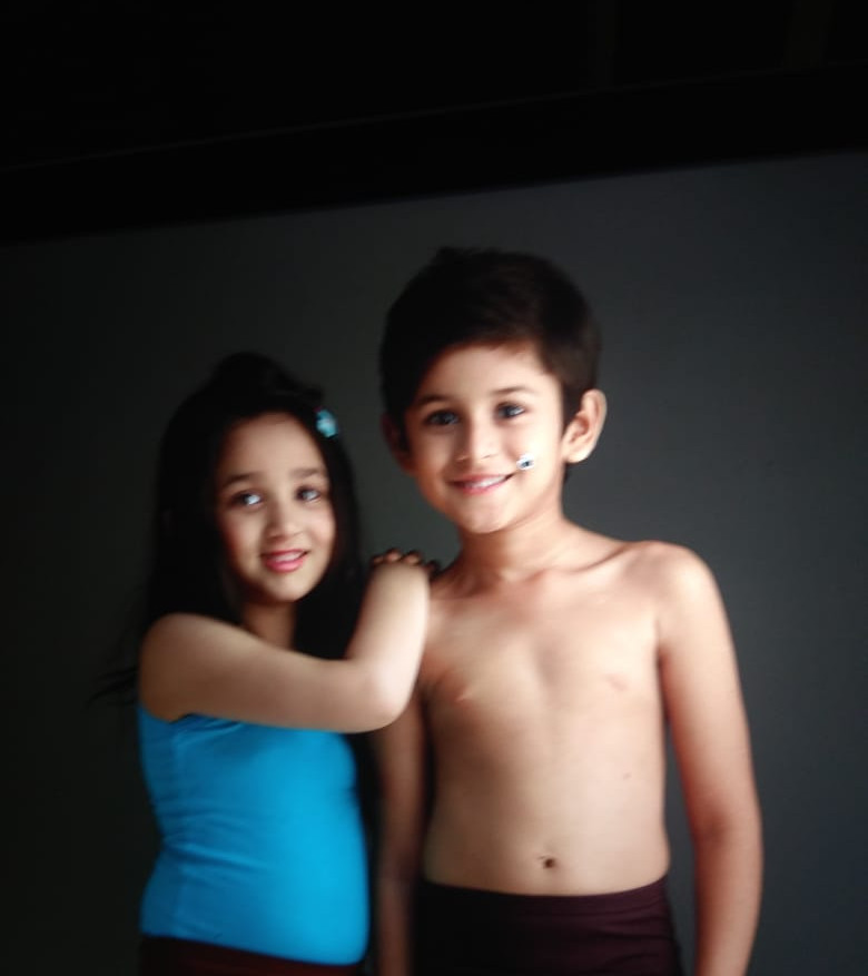 Inner wear shoot with kid model Advaith (Chennai) and Chhavi (Bangalore)