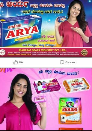 Actress Ruhani in Soap ad shot in ramoji film city