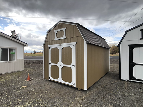 10x16 lofted barn with double doors