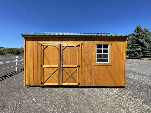 10x16 Utility Style Shed Side Door