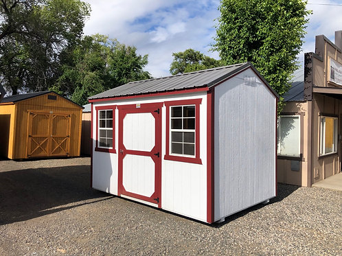 8x12 utility style side door shed