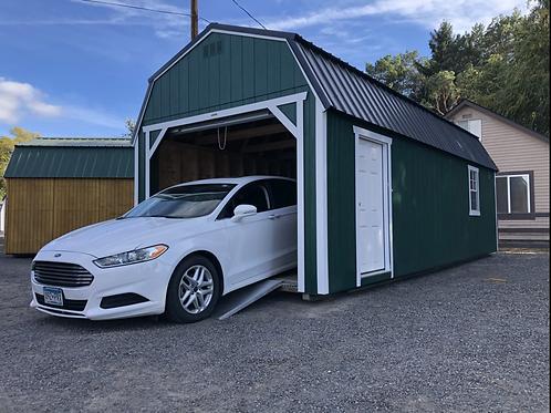 12x28 Lofted Barn Garage Package