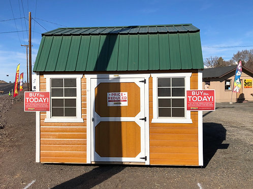 10x12 DUTCH LAP SIDING Side Door Lofted Barn