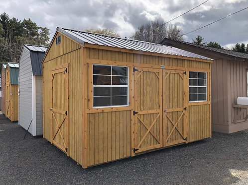 10x14 Utility Style Shed With Two Doors
