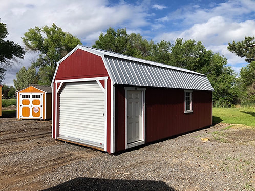 12x28 lofted barn garage