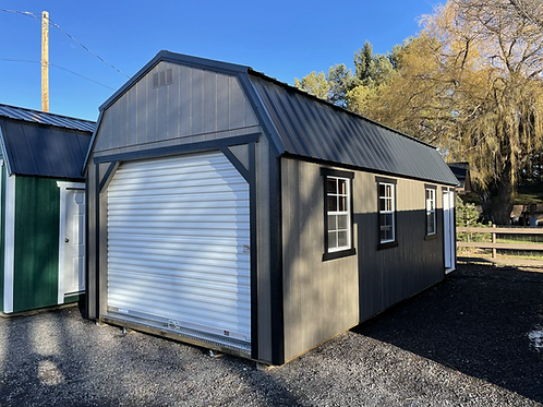 12x24 Custom garage with attached studio room