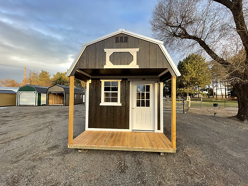10x20 Lofted Barn Front Porch