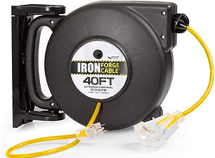 Retractable Extension Cord Reel with 3 e