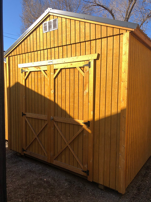 10x20 Utility Style Shed With Shelves