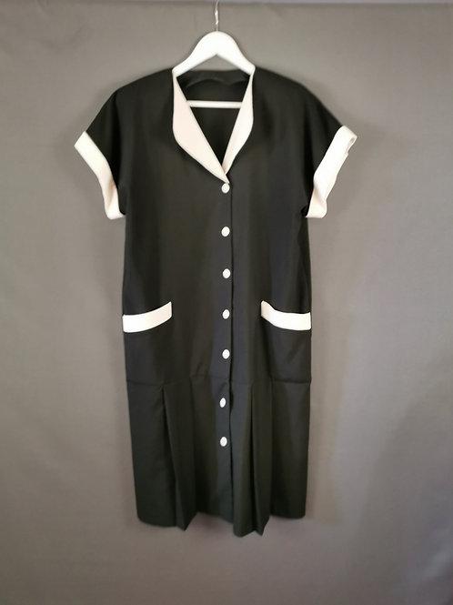 Black and White Drop Waist Dress