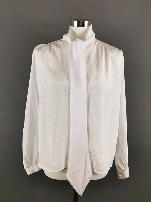 White in Shinning Blouse