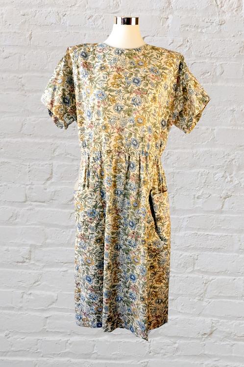 Autumn Flowers 90s Dress