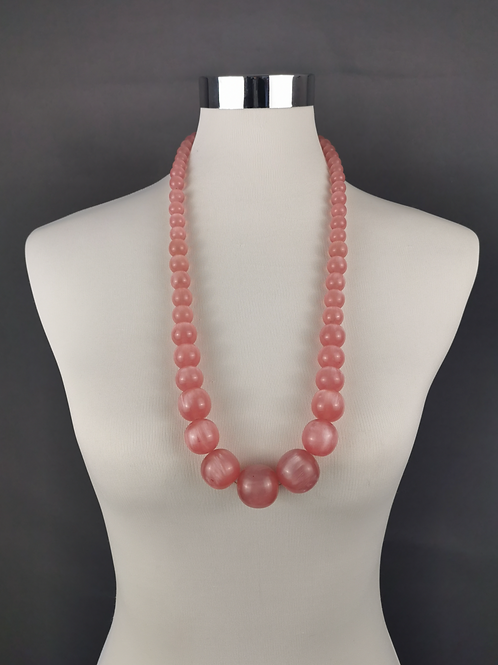 Blush Pink beaded Necklace
