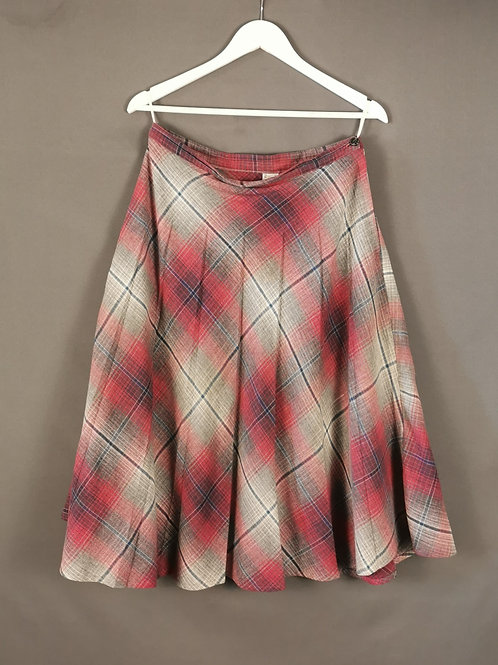Plaid Soft Pleated Skirt