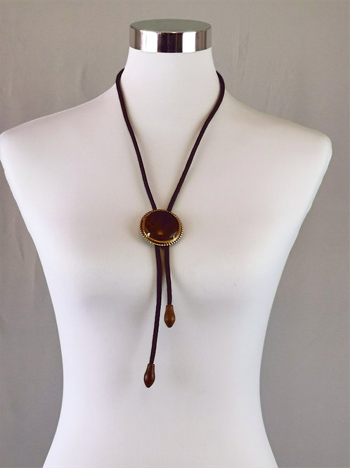 Cowgirl Tie with Large Wooden Centre