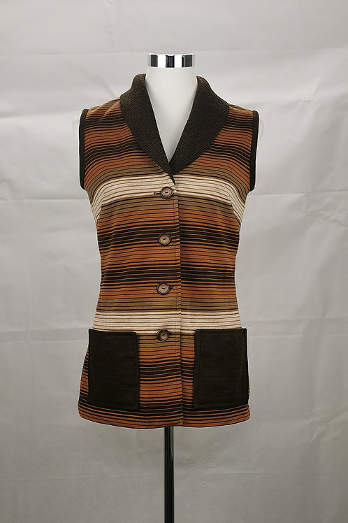 Brown Retro Vest