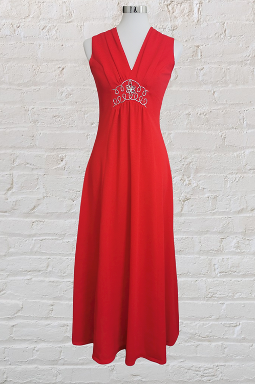 1960's Red Party Dress