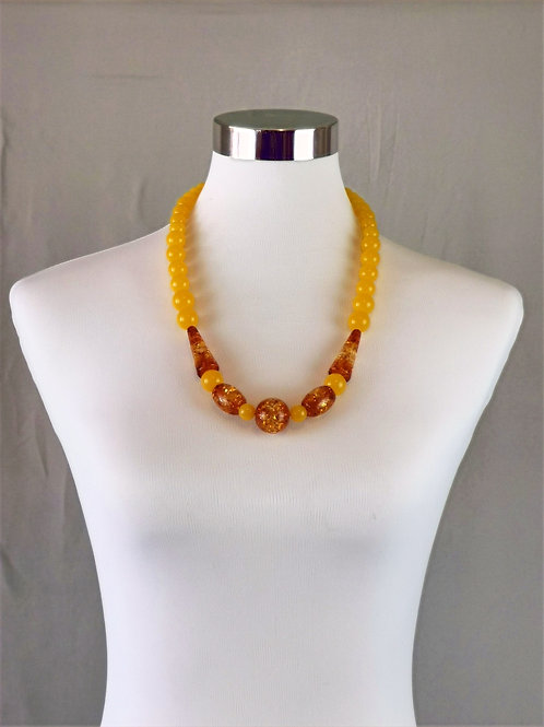 Amber Plastic Necklace