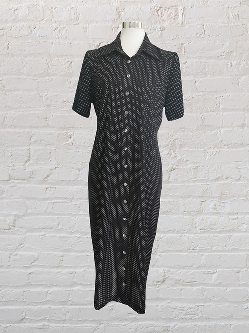 Polka Dot 90s Fitted Dress