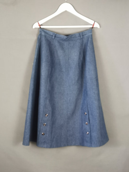 Blue Button SKirt
