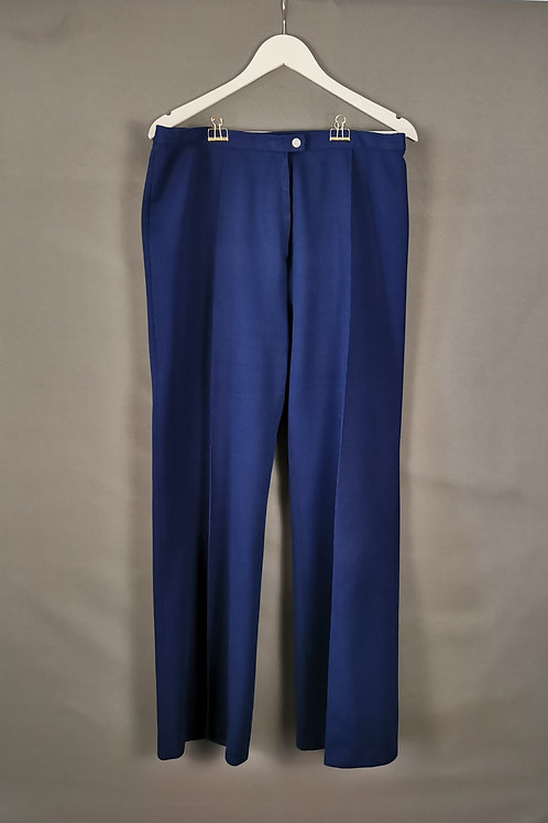 Navy Blue Crimplene Pants
