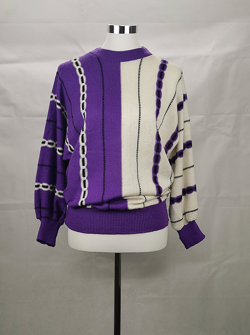 Purple and White Jumper