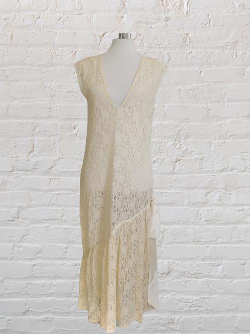 Cream Lace Deco Dress