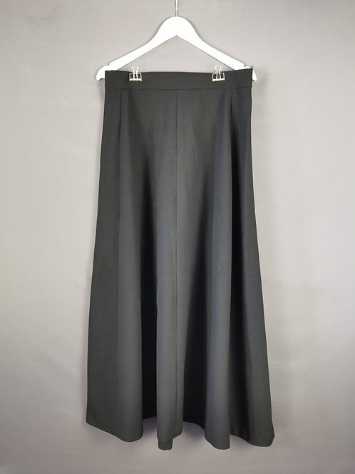 Long Black Retro Skirt